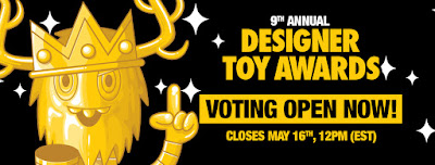 Public Voting For The 9th Annual Designer Toy Awards Is Now Open! - Vote The Blot Says 4 Best Media Outlet!