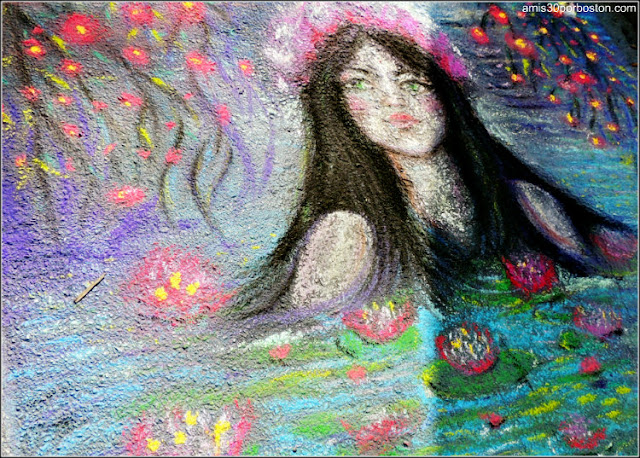 "MayFair 2017: ""A Mermaid Emerging from Monet´s Water Lilies"" de Maureen McAfee"