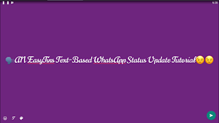 WhatsApp Text Status Update - EasyTins