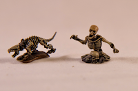 Skeletal dog and torso