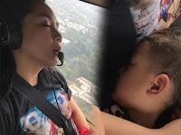 Rafathar Tertidur Pulas di Helicopter, Netizen: Kasian Banget Kecapean Gara-gara Sibuk Sana Sini