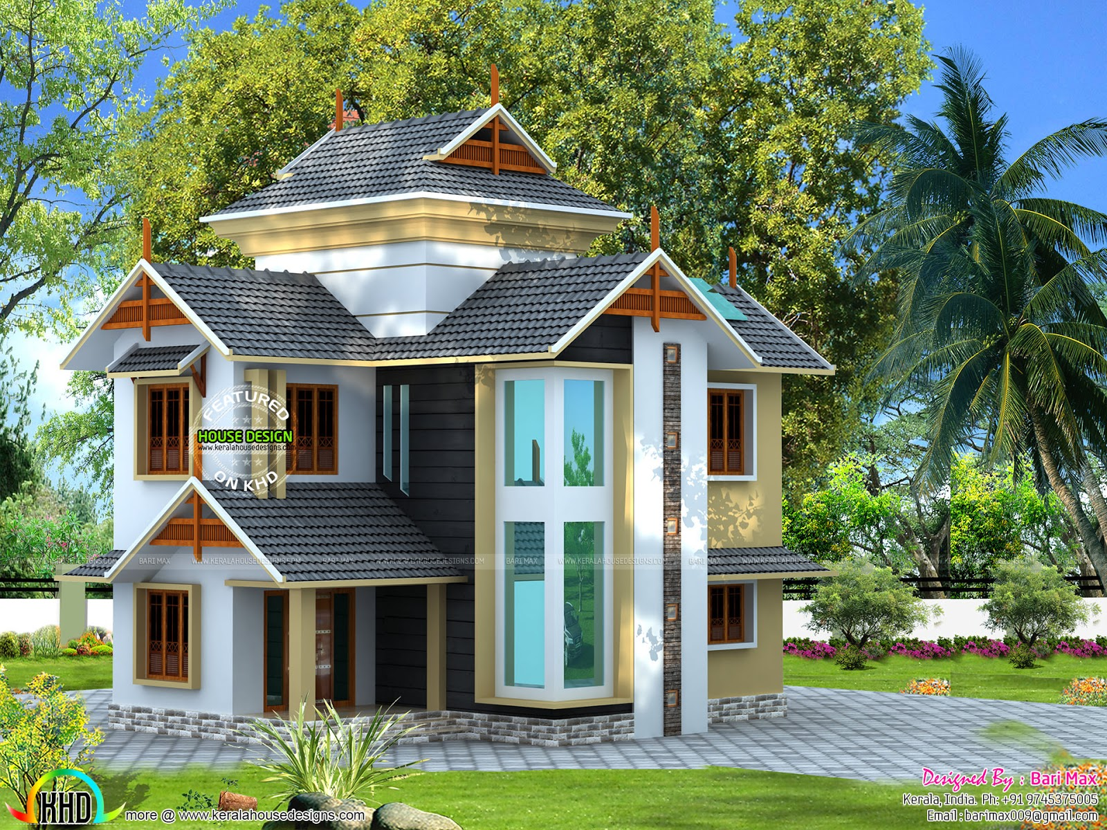 Small 5 bedroom modern house - Kerala home design and ...