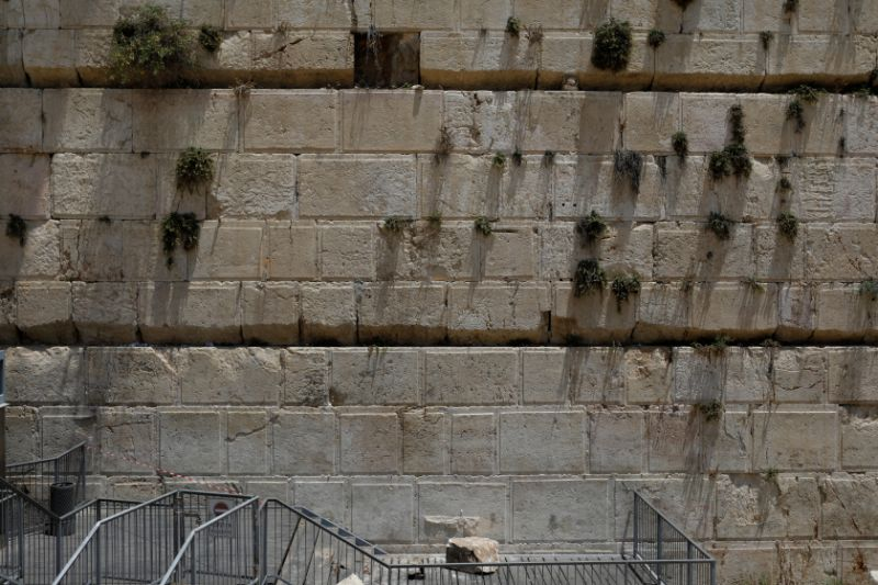 220 pound stone drops from western wall narrowly missing worshipper. Black Bedroom Furniture Sets. Home Design Ideas