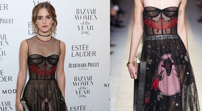 Με τον Μπαφομέτ στο φόρεμα η ηθοποιός Emma Watson
