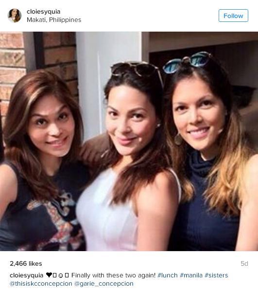 Half-sisters Garie Concepcion, KC Concepcion and Cloie Syquia Skarne