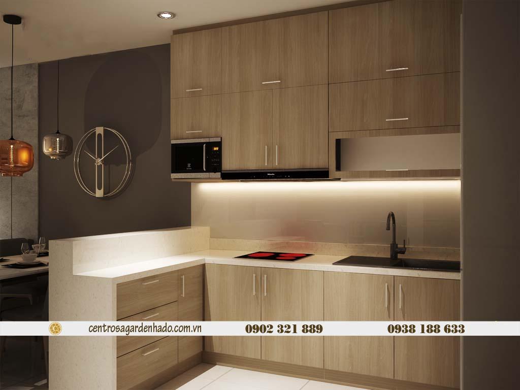 Căn hộ 1 phòng ngủ cho thuê HaDo Centrosa tầng cao | ảnh 3D 3