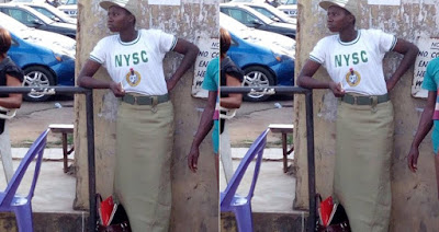Entertainment: See This Corp Member's Outfit in Ibadan