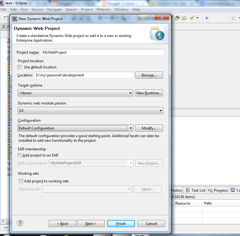 Java Kart: Setup development environment with Eclipse and Tomcat