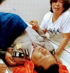 Jenazah korban saat di rumah sakit.
