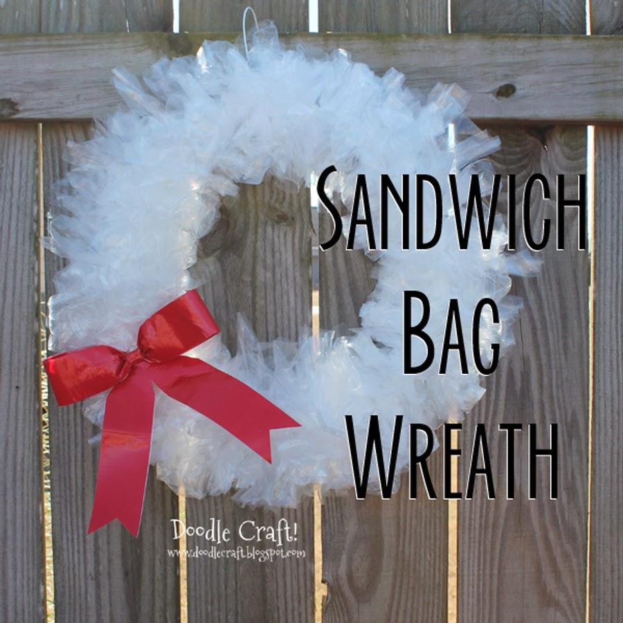 http://www.doodlecraftblog.com/2014/12/sandwich-bag-wreath.html