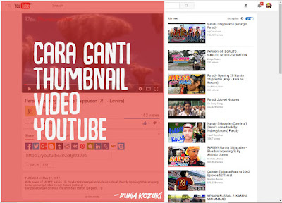 Cara Mengganti Thumbnail Video Youtube