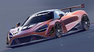 McLaren 720S GT3 2019 (Rendering) Front Side