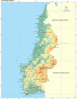 peta sulawesi Barat / West sulawesi map