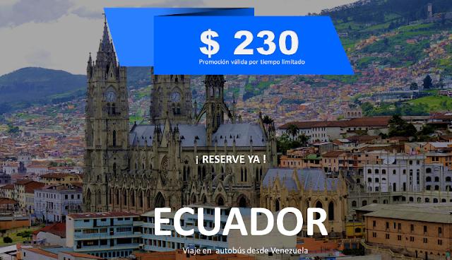 Ecuador viaje en autobús desde Venezuela