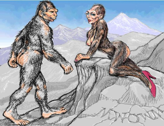 Girl sex with bigfoot