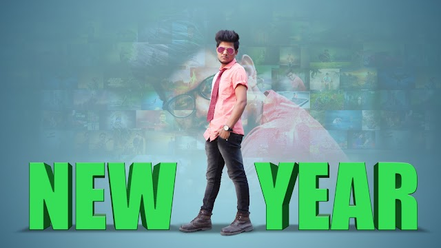 NEW YEAR 2018 SPECIAL PHOTOSHOP POSTER DESIGN || PHOTOSHOP MANIPULATION TUTORIAL