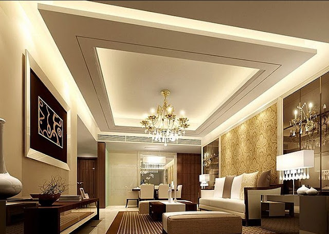 model plafon ruang tamu minimalis