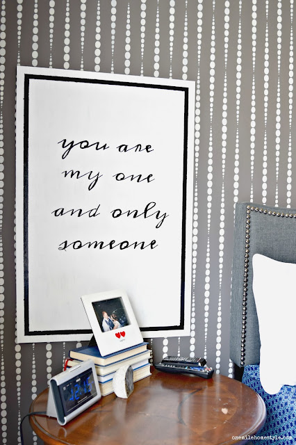 You Are My One and Only Someone Black and White DIY Typography Wall Art