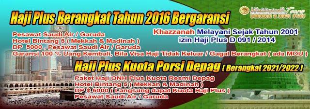 Haji Plus Non Kuota 2016