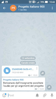 Telegram e audio apprendimento