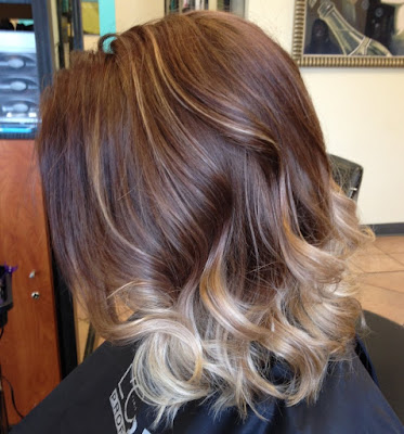 balayage highlights on short hair