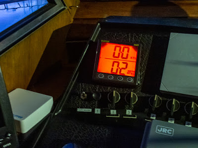 Photo of Ravensdale's depth sounder before she sank into the mud