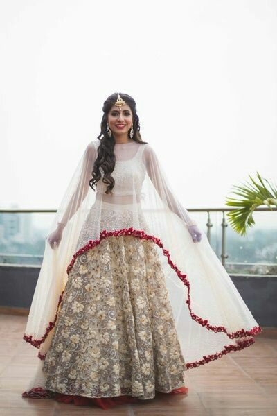 d063b914ddb Capes are everywhere and it is one trend which refuses to fade off. Sheer  capes look chic and feminine making it perfect outfit choice for bride s  sister.