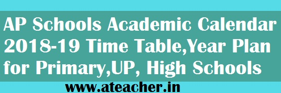 AP Schools Academic Calendar 2018-19 Time Table,Year Plan for Primary,UP, High Schools