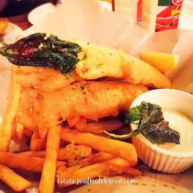 Fish & Chips; Dinner at Shoney's Dining & Bar