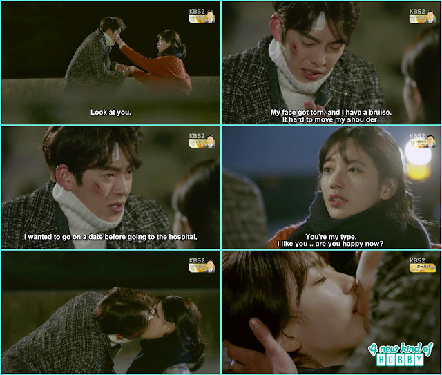 bae suzay and kim woo bin Confession Kiss - Uncontrollably Fond - Episode 9 Review - Korean drama 2016