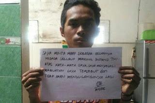 Minta TNI Dibubarkan, Pria ini Langsung diringkus TNI dan Dibawa ke Polisi