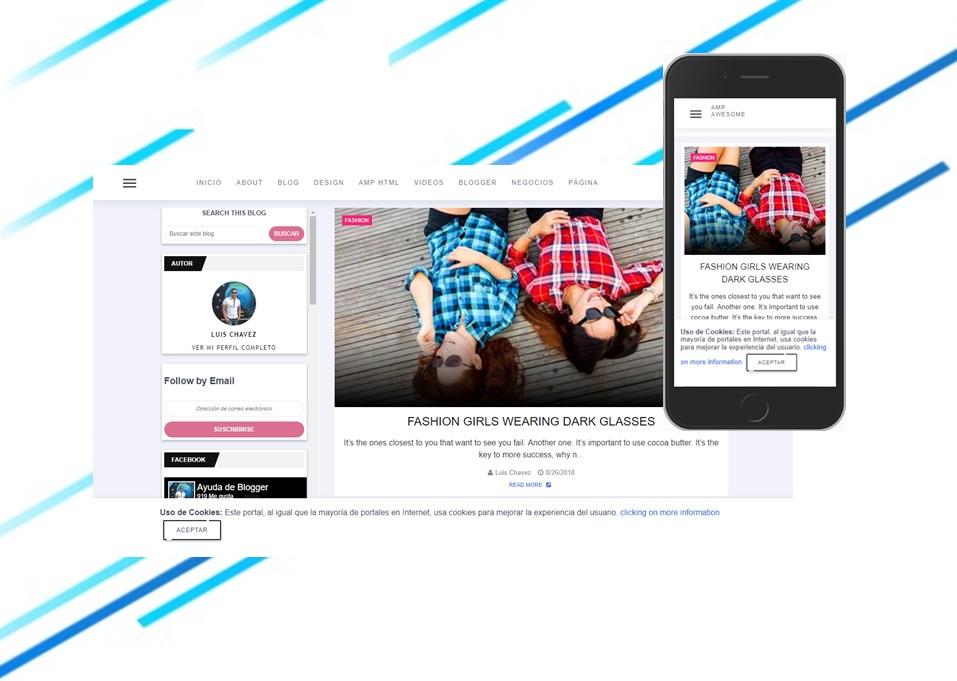 AMP Awesome Plantilla de Blogger en AMP html