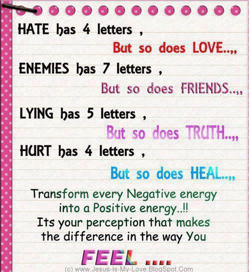 Hate Has 4 Letters But So Does Love Enemies Has 7