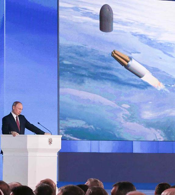 Pavorosas novas armas de destruição de massa povoam a mente do dono do Kremlin.