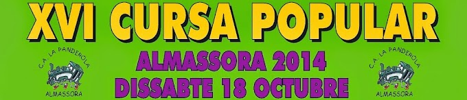 INSCRIPCIONS XVI CURSA POPULAR ALMASSORA 2014