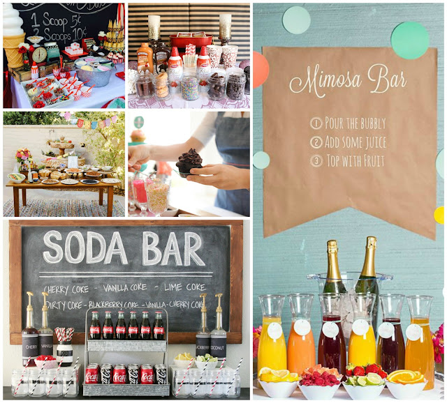 DIY PARTY FOOD & DRINK STATION IDEAS