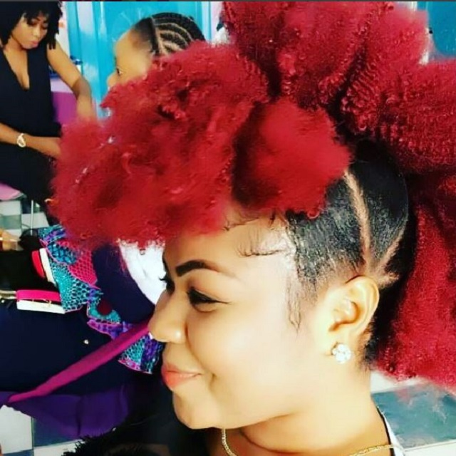 Gifty Osei's new funky hairstyle [Video]