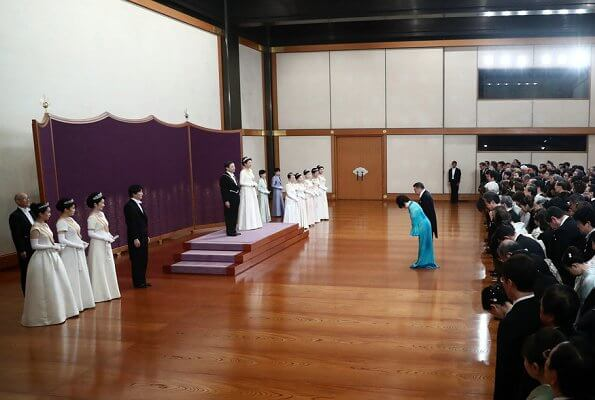 Emperor Naruhito, Emperor Masako, Crown Prince Akishino, Crown Princess Kiko, Princess Mako and Princess Kako, diamond tiara