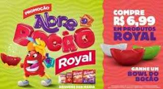 Promoção Royal 2018 Abre o Bocão Compre Ganhe Tijela