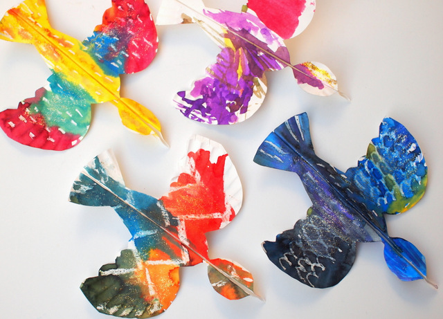 Colorful Paper Plate Birds And Our Favorite Bird Books