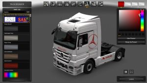 Costum Skin for Mercedes Actros MP3