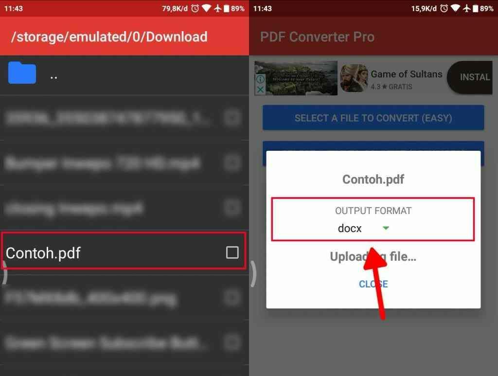Cara mengubah dokumen PDF ke Microsoft word pada android 2