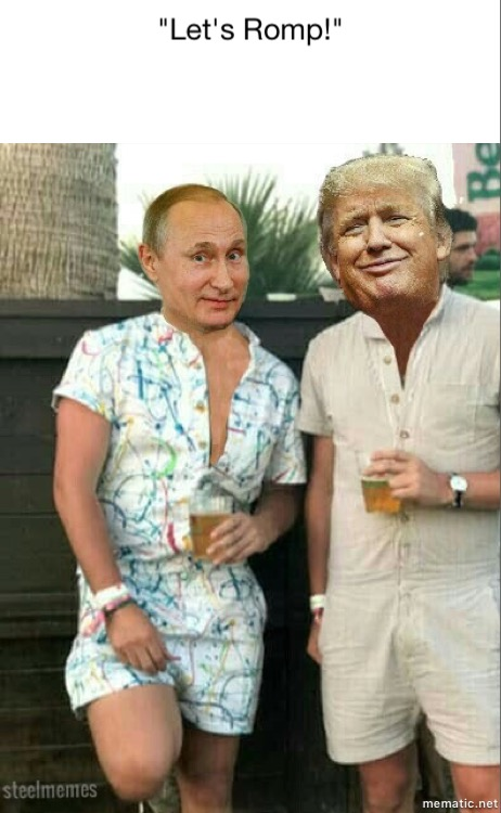 Funny Donald Trump and Putin in rompers picture