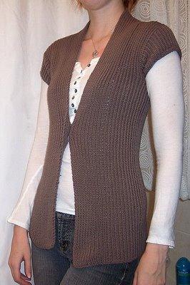 Free Knitting Pattern Women Vest Patterns 2012
