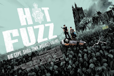San Diego Comic-Con 2017 Exclusive Hot Fuzz Variant Screen Print by Jock x Mondo