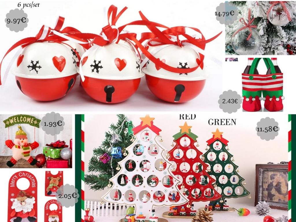 decoracion navidad aliexpress globos telas servilletas cubre cubiertos figuritas etc