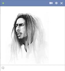 Bob Marley Emoticon Drawing