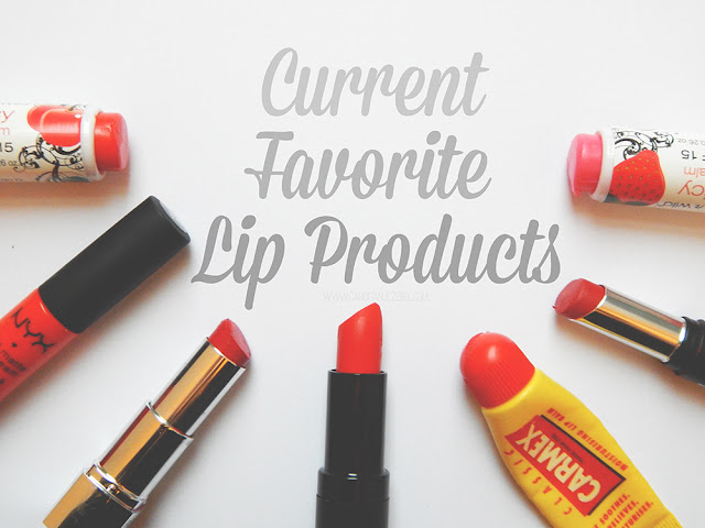 Current Favorite Lip Products- lip balm, nyx, revlon, new look, carmex, seventeen, wet n wild lip balm.