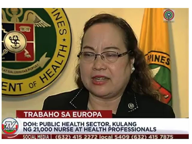 The Department of Labor And Employment announced that Europe is in need of 22,000 nurses of all these position are reserved for Filipinos.   According to Labor Undersecretary Dominador Say, based on his meeting with the European recruiters, the minimum salary offered for Filipino nurses will be Php 150,000 with benefits. He also said, that Filipino nurses will have 6 months working visa, which can be converted to immigrant status after 6 months, thereafter the immigrant nurse can bring his or her family after another 6 months.         The recruiters require that applicants must be licensed nurse and can speak German language.     Health Secretary Paulyn Ubial admitted that there is shortage of nurses in the public health sector of 21,000 nurses and health professionals. These however should not be a problem in case more nurses choose to work abroad because there is still over supply from the nursing graduates. She added, the compensation package for nurses in Philippines has also increased tremendously in the past five years,   DOLE is also encouraging those who plan to work overseas to be careful and vigilant with illegal recruiters.  Applicants may check POEA for the TripleWin project or recruitment of nurses for Germany or may verify from POEA website the list of job orders for nurses in any of the European countries.     ©2017 THOUGHTSKOTO