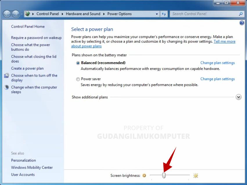 Cara Mengatur Kecerahan Laptop Windows 7